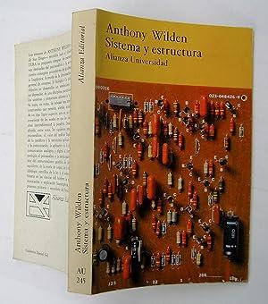 Sistema y Estructura: Anthony Wilden