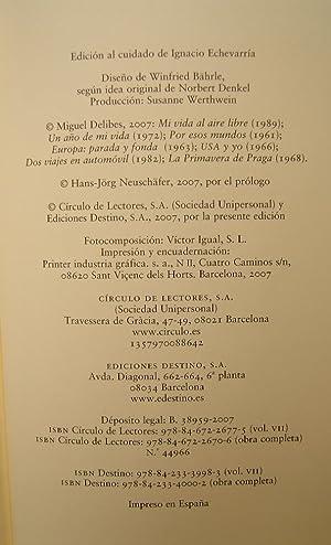 Obras Completas VII. Recuerdos De Viajes: Miguel Delibes
