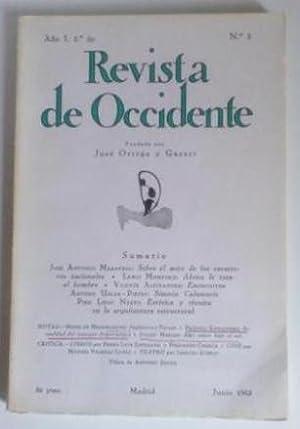 REVISTA DE OCCIDENTE n 3. Sobre El Mito De Los Caracteres Nacionales; Ahora Le Toca Al Hombre; ...