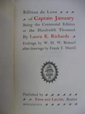 Captain January. (Ltd, #, sgn, w/dw): Richards, Laura E.