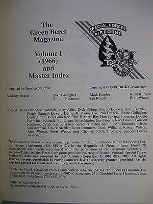 Green Beret Magazine: Five Vol. Set, Complete