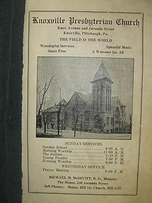 Corner Stone Cook Book: Corner Stone Class Knoxville Presbyterian Church