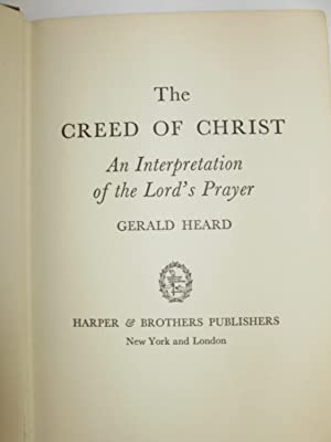 Creed of Christ; (Signed/Inscribed, First): Heard, Gerald