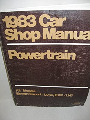 1983 Car Shop Manual: (5 Volume set)