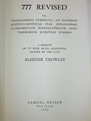 777 Revised: Crowley, Aleister