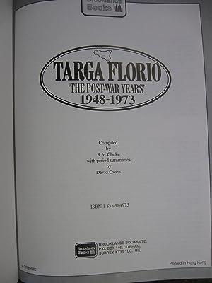 "Targa Florio ""The Post War Years"" 1948-1973: Clarke, R.M.; Owen, David"