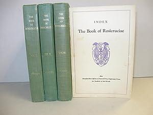 Book of Rosicruciae: [3 Vol Set Plus Index Pamph.]: Clymer, Dr. R. Swinburne