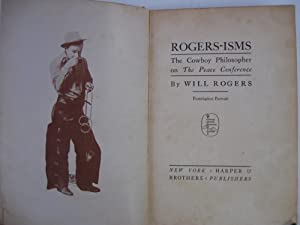 The Cowboy Philosopher on the Peace Conference: Rogers, Will