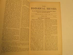 Historical Record: A Monthly Periodical ; Vols 5, 6, 7, & 8, Bound Into One Volume: Jenson, ...
