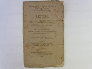 Letter from the Hon. Timothy Pickering, A Senator of the United States from the State of ...