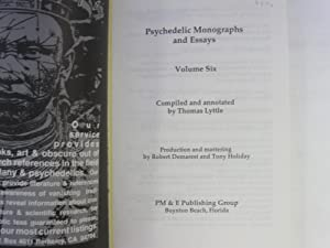 Psychedelic Monographs and Essays Vol 6: Lyttle, Thomas