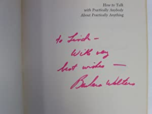 How to Talk with Practically Anybody About Practically Anything; [Signed/Inscribed]: Walters, ...