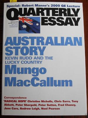 Quarterly Essay: Australian Story (Issue 36, 2009)