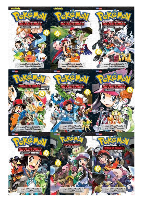 POKEMON BLACK & WHITE Series Collection Set of Paperback Volumes 1-9 Kusaka, Hidenori [Neuf]   Pokemon Adventures: Black and White, Volume 1; Pokemon Adventures: Black and White, Volume 2; Pokemon Adventures: Black and White, Volume 3; Pokemon Adventures: Black and White, Volume 4; Pokemon Adventures: Black and White, Volume 5; Pokemon Adventures: Black and White, Volume 6; Pokemon Adventures: Black and White, Volume 7; Pokemon Adventures: Black and White, Volume 8; Pokemon Adventures: Black and White, Volume 9