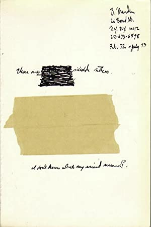 Brice Marden. Suicide Notes