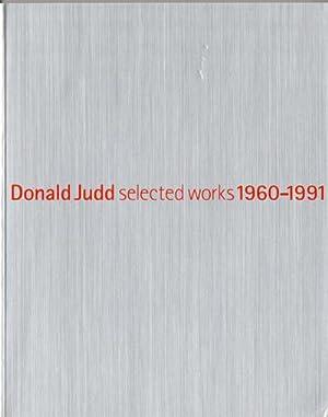 Donald Judd. Selected worcks 1960-1991: Umezu Gen