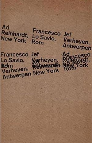 Ad Reinhardt, New York. Francesco Lo Savio,: Reinhardt Ad, Lo