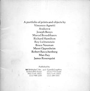 Mirrors of the mind A portfolio of prints and objects by Vincenzo Agnetti, Arakawa, Joseph Beuys, ...