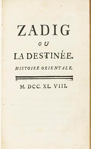 Zadig ou la destinée. Histoire orientale.: VOLTAIRE