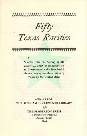 Fifty Texas Rarities: Graff, Everett D.