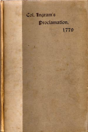 Proceedings of a Council of War held at Burke Jail, Georgia, January 14th, 1779, with a Narrative ...