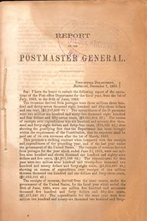 Report of the Postmaster General: Confederate States of America]
