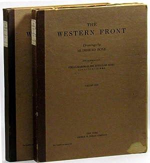 The Western Front Drawings by Muirhead Bone (2 volumes): Bone, Muirhead; Haig, Sir Douglas ...