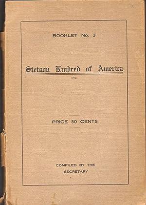 Stetson Kindred of America Inc: Stetson, G. W. (Secretary)