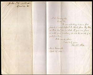 Civil War era signed letter from John S. C. Abott (1805-1877) American Clergyman and Author: Abbott...