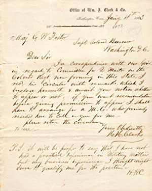 1863 and 1864 Letters Relating to Union: H. H. Clark