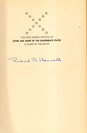 Cities and Camps of the Confederate States: Ross, Fitzgerald; Harwell, Richard Barksdale (editor)