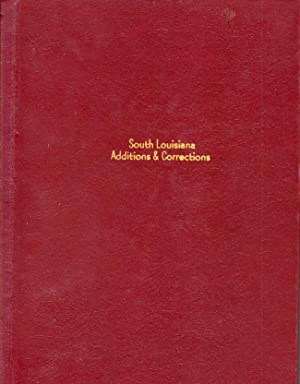 South Louisiana Additions and Corrections: Terrebonne Genealogical Society