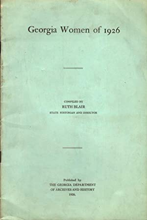 Georgia Women of 1926: Blair, Ruth (Compiler)