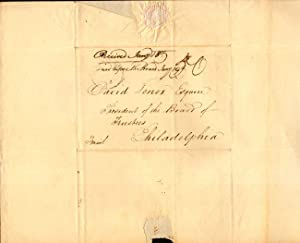 """Duplicate Letter written by George Jones to the """"Office of the Trustees &c Savannah 2nd, ..."""