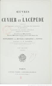 Oeuvres réunies de CUVIER et LACÉPÈDE ( 4 Tomes): M. Flourens