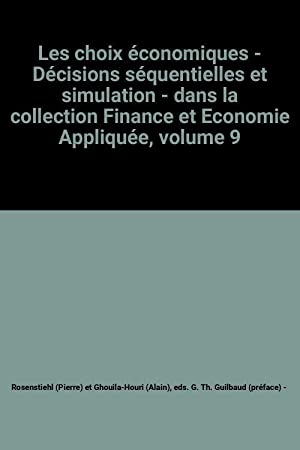 Les choix économiques - Décisions séquentielles et: eds. G. Th.