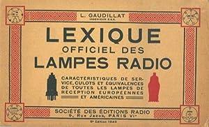 Lexique officiel des lampes radio.