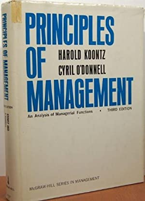Principles of Management an analysis of managerial: H & O'Donnell