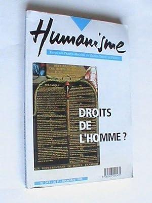Humanisme - n°243 dec 1998 Droits de: Collectif