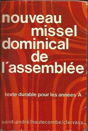 Nouveau missel dominical de l'assemblee, texte durable: COLLECTIF