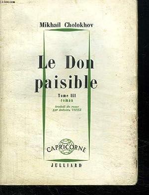 le don paisible, tome 3: Cholokhov Mikhail