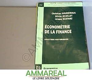 Econométrie de la finance: Christian Gourieroux, Olivier