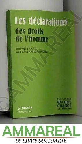 LES DECLARATIONS DES DROITS DE L'HOMME: ROUVILLOIS FREDERIC