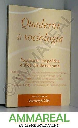 Quaderni di sociologia: aa vv