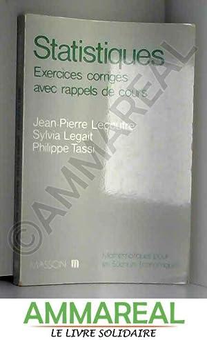 Statistique : Exercices corrigés avec rappels de: Philippe Tassi, Sylvia