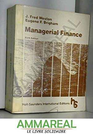Managerial Finance: J. Fred Weston