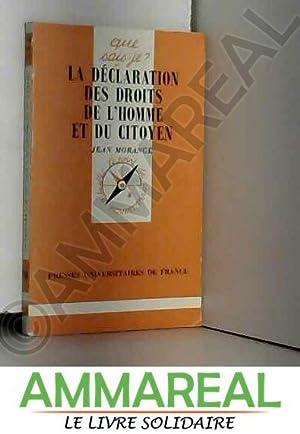 La déclaration des droits de l'homme et: Jean Morange et