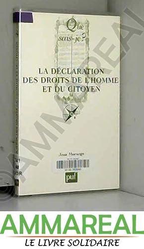 La Déclaration des Droits de l'Homme et: J. Morange et