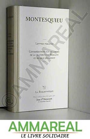 Les Lettres Persanes et Autres Oeuvres T21: Montesquieu