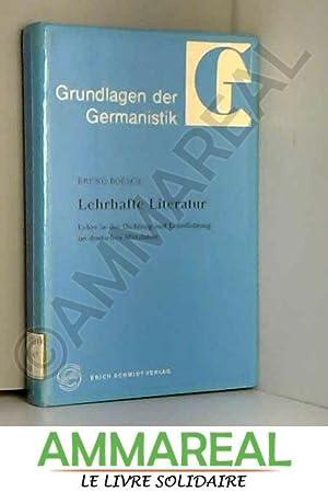 Lehre in der Dichtung und Lehrdichtung im Mittelalter (German Edition)